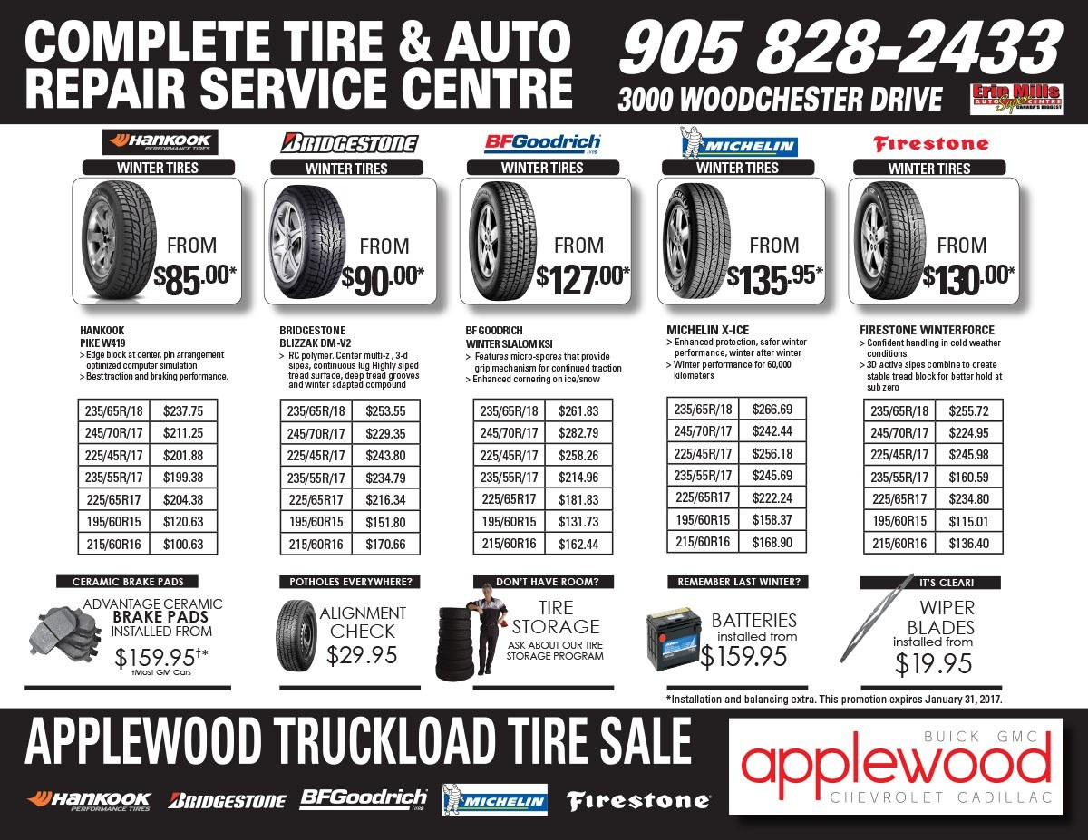 winter tire specials applewood
