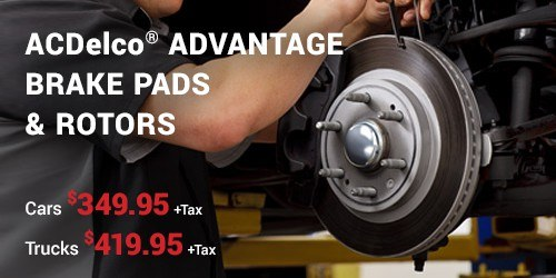 ACDelco® Advantage Brake Pads & Rotors