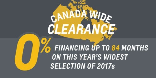 Canada Wide Clearance Sale—Get 0% Financing for 84 Months