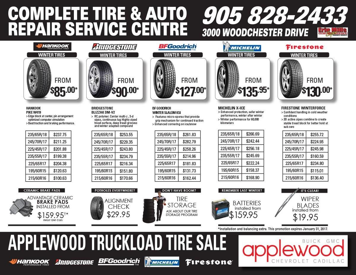 winter tire specials applewood