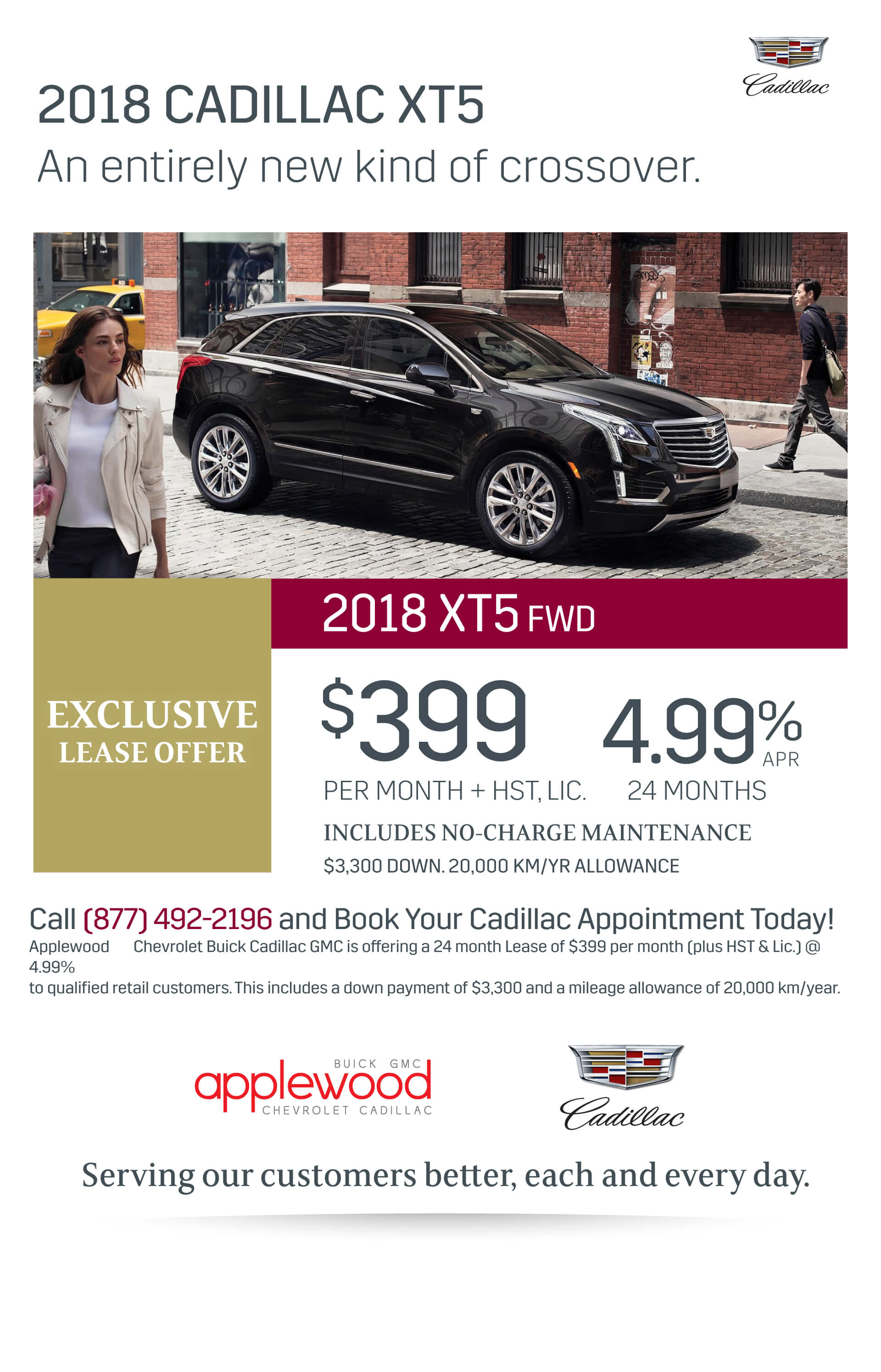 Cadillac XT5 Exclusive Lease Offer