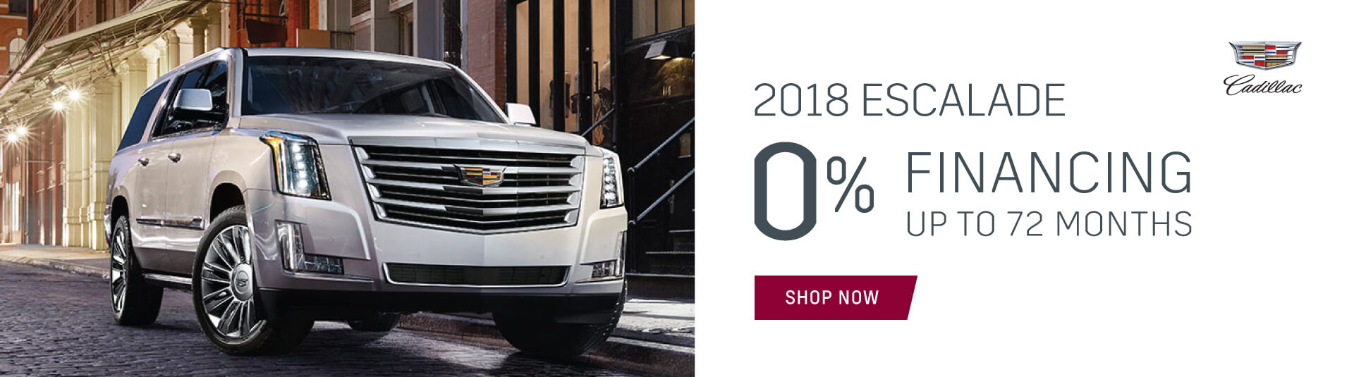 2018 Cadillac Escalade 0% financing incentive in Mississauga