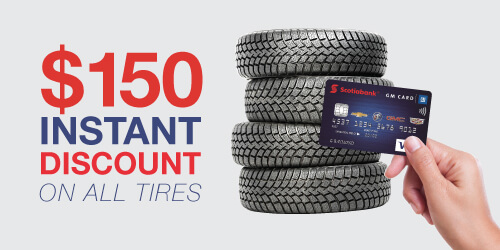 GM Scotiabank Card: $150 Instant Discount on Tire Set