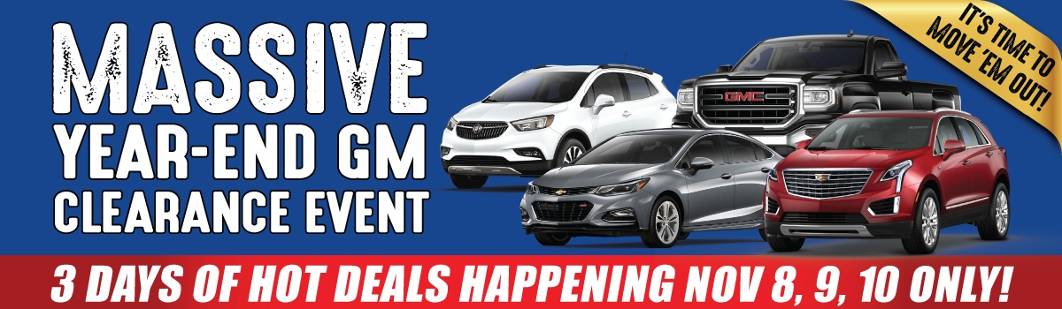 Applewood Chevrolet Cadillac Buick GMC Massive Year End Clearance Event