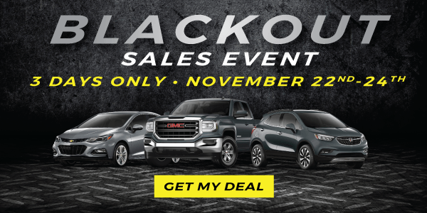 Applewood Chevrolet Cadillac Buick GMC Blackout Sales Event