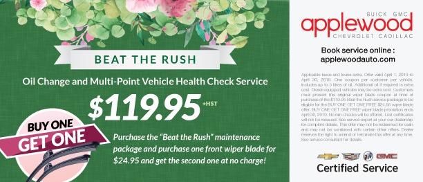 """""""Beat The Rush"""" Maintenance Package"""