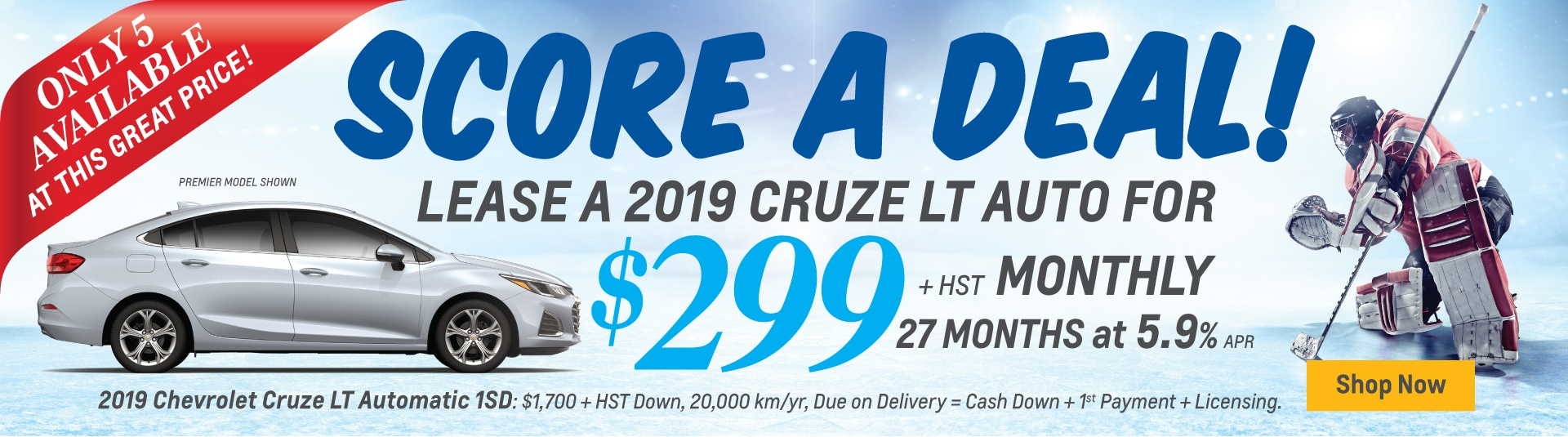 2019 Chevrolet Cruze Exclusive Lease Offer in Mississauga