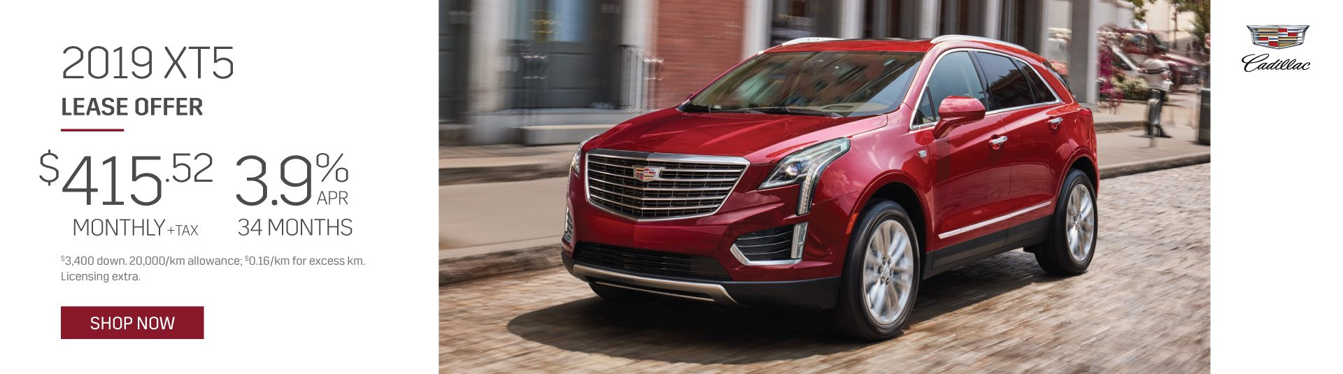 2019 Cadillac XT5 Special Lease Offer in Mississauga
