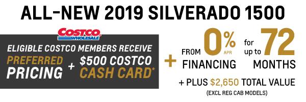 2019 Chevrolet Silverado Costco Member Offer in Mississauga