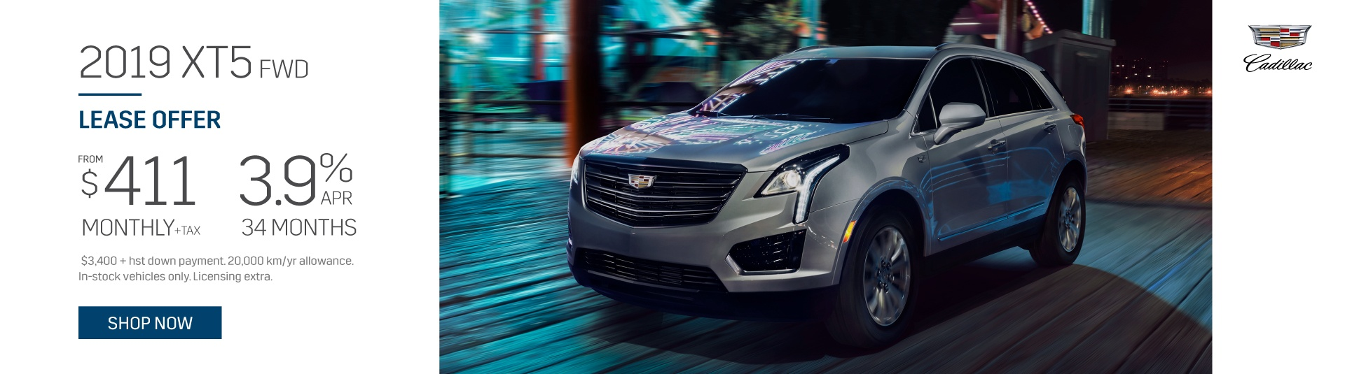 Applewood Cadillac XT5 Lease Offer in Mississauga