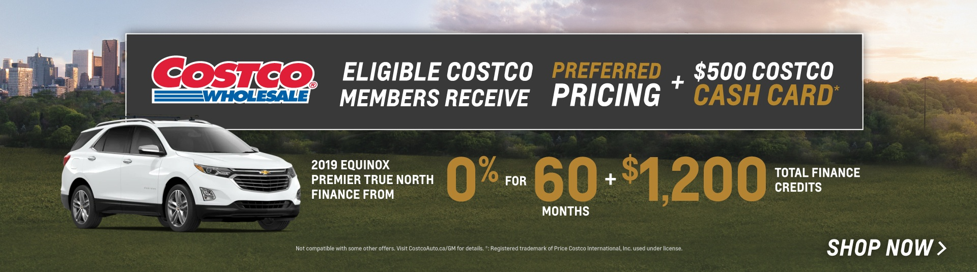 2019 Chevrolet Equinox Costco Preferred Pricing Offer in Mississauga