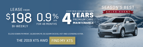 Cadillac XT5 Lease Offer in Mississauga