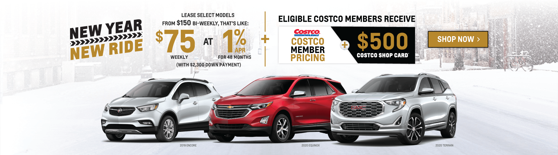 Chevrolet, Buick, GMC SUV New Year, New Ride Sale Event in Mississauga