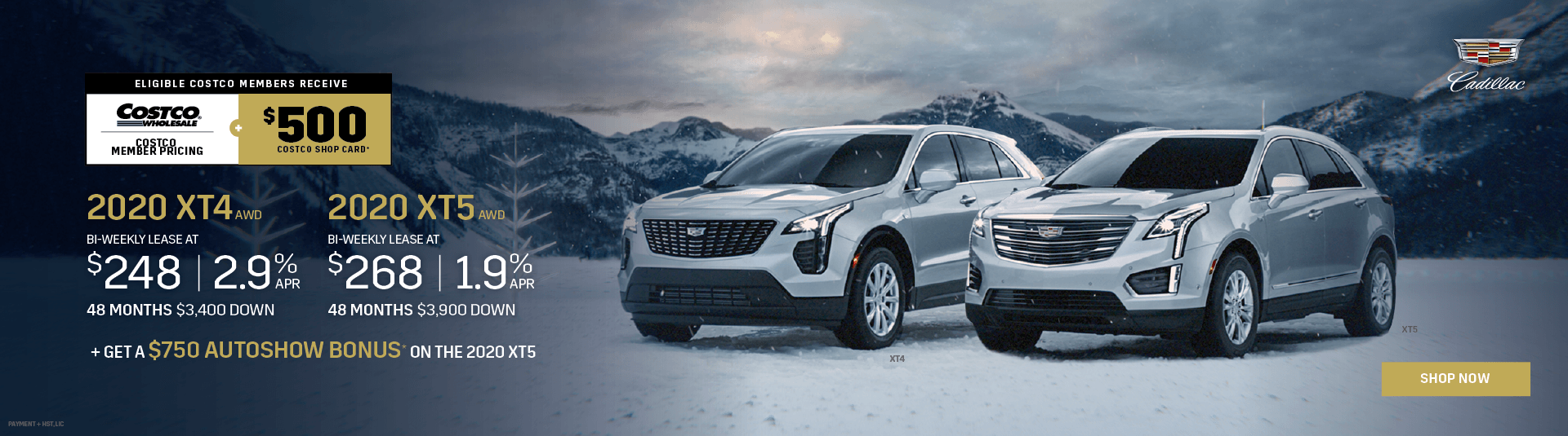 Cadillac XT4 & Cadillac XT5 Offers in Mississauga