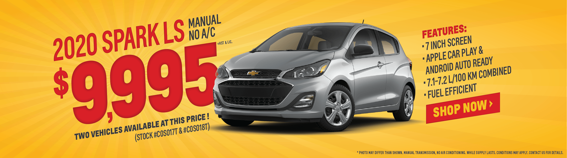 Chevrolet Spark offer at Applewood Auto
