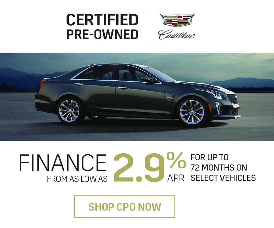 Cadillac Certified Pre-Owned Vehicle Offer in Mississauga