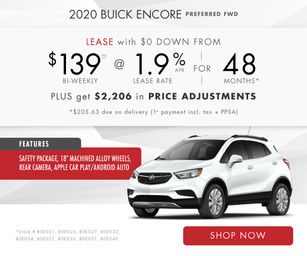 2020 Buick Encore Lease or Finance Offer in Mississauga