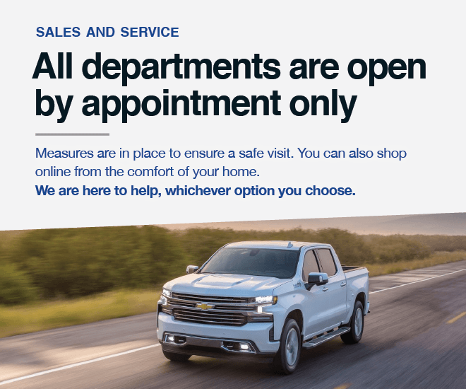 Applewood Chevrolet Cadillac Buick GMC - Showroom and Service Open By Appointment Only