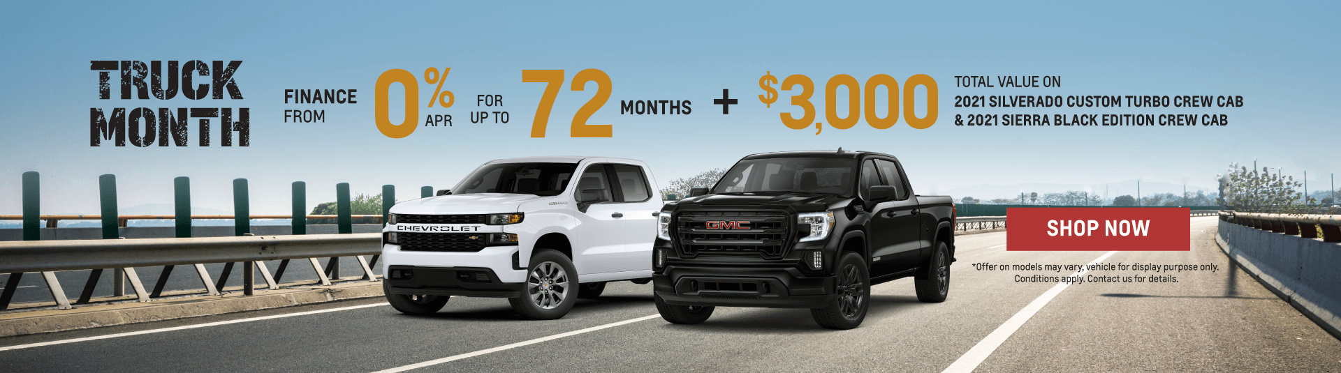 2021 Chevrolet Silverado and 2021 GMC Sierra Offers in Mississauga
