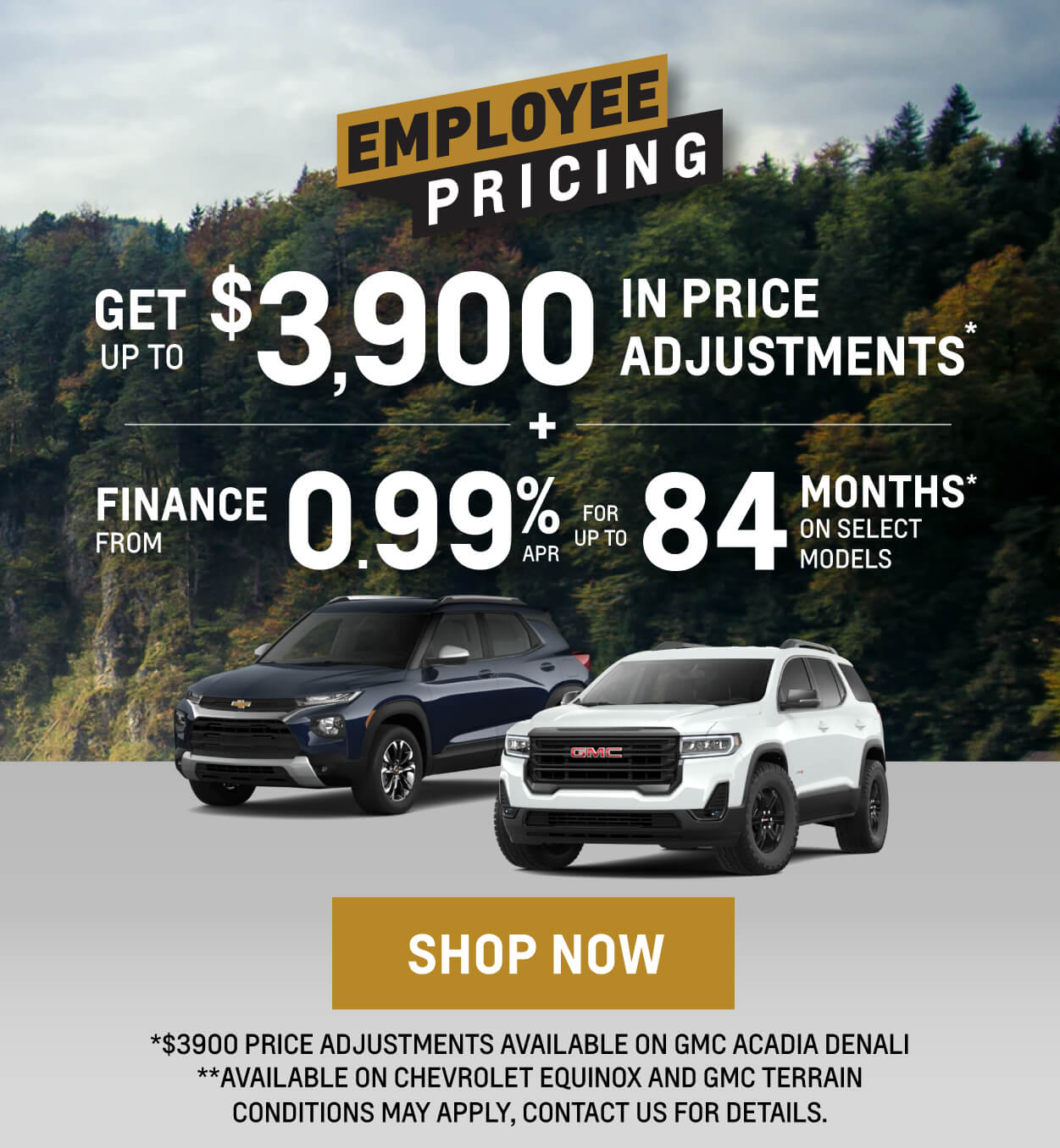 Chevrolet, GMC, Buick SUV Offers in Etobicoke