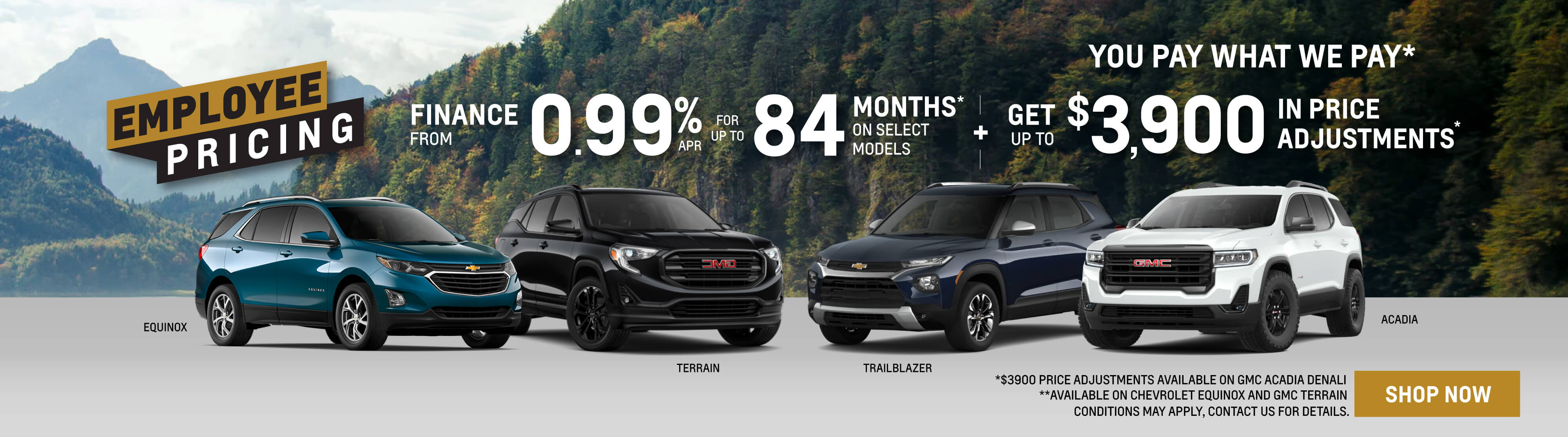 Chevrolet, GMC, Buick SUV Offers in Mississauga