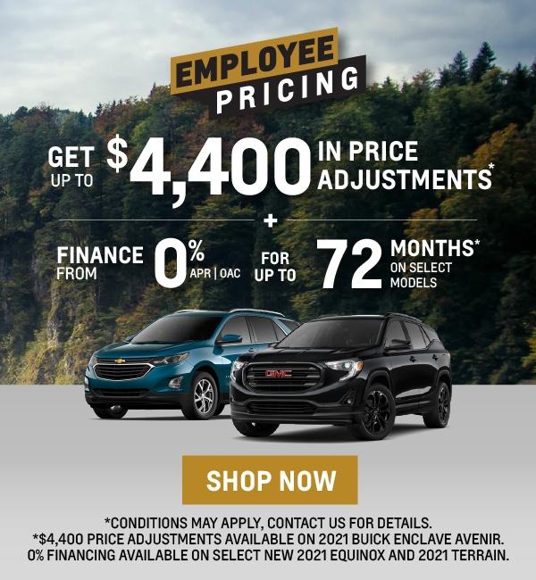 GM Employee Pricing - Applewood Auto