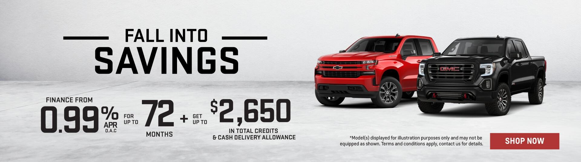 Fall Into Savings GM Trucks - GM Trucks - Applewood Chevrolet Buick GMC