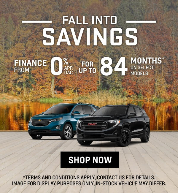 GM Fall Into Savings, Finance from 0%APF OAC for Up to 84 Months on Select 2021 GM SUV Models - Applewood Auto